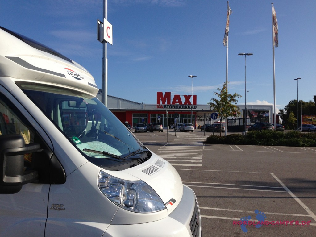 "Pause am ""ICA Maxi"" in Schweden"