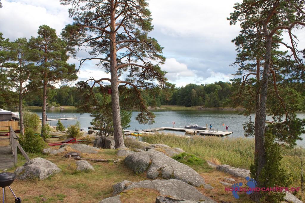 Campingplatz nördlich von Stockholm
