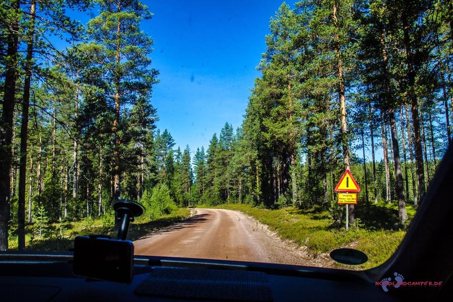 """""""Bumpy Road"""" in Mittelschweden"""