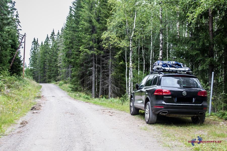 20km Zufahrt zum Glaskogen-Campingplatz